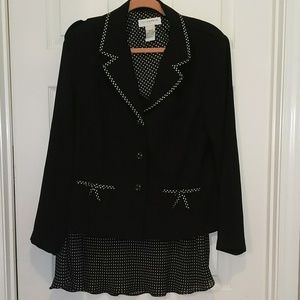 Sag Harbor 2 PC skirt and jacket set Sz 12